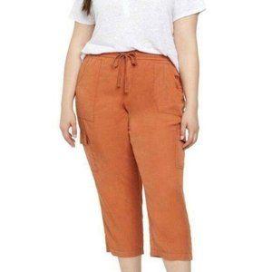 Sanctuary Discoverer Cargo Crop Capri Pants Orange